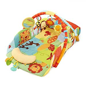 Bright Starts Baby's Play Place Playmat, Swingin' Safari