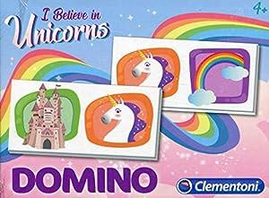 Clementoni-Domino Pocket Unicornio, 18033, Multicolor
