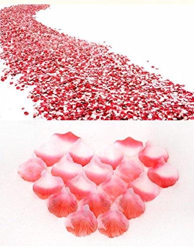 2000 Stück Valentinstag Rosenblüten / Romantisch Rosenblüten / Silk Künstliche Rosenblätter / Streudeko für Hochzeit Party...
