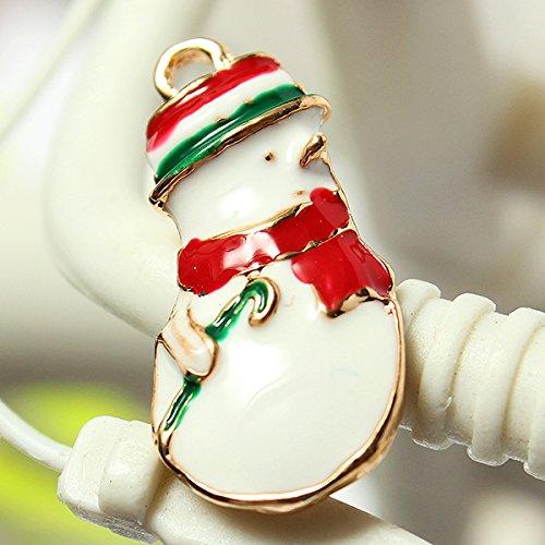 Tutoy 11 Mixed Gold Weihnachtsgeschenke Charms Baum Deer Schneeflocke Anhänger -Snowman (Diy Damen Weihnachtsmann Kostüm)