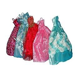 Imported Barbie Gown Dress Shoes Accs for 29cm Barbie Dolls Random Color/Style