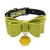 YSoutstripdu Hundehalsband mit Schleife und Glöckchen, verstellbar