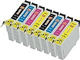 8er Pisco Inks T0615 Druckerpatronen für Epson Stylus D3850 Stylus D4200 Stylus D68 PE Stylus D88 Stylus D88 Plus Stylus DX3800 Stylus DX3850 Stylus DX4200 Stylus DX4250 Stylus DX4800 Stylus DX4850