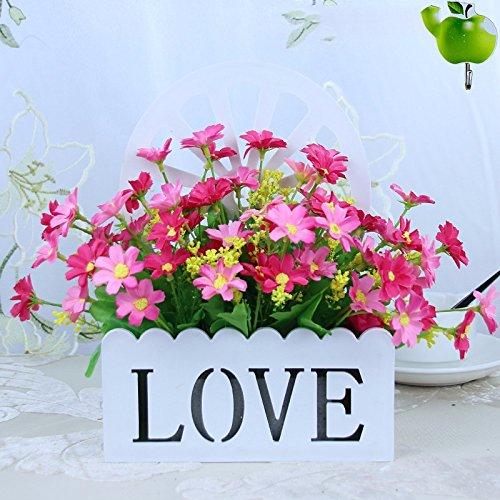 Blumenampel floral Florale emulation Blume Blumen hängende Wand Dekoration Blumen Warenkorb Set, Pink