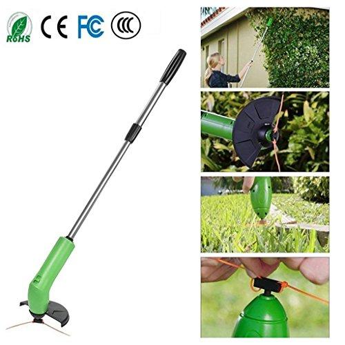 XGLL Cordless Weed Trimmer, Griff Extensible Leichte Garten Gras Trimmer Zip Trim Akku-Trimmer Gartenkraut Cutter