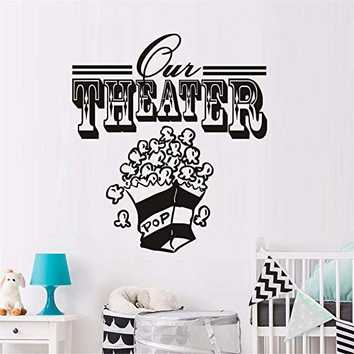 Mddjj Theater Popcorn Form Wandkunst Aufkleber Home Diy Wandbild Removable Room Removable Vinyl Wandaufkleber Wohnzimmer Dekoration Kinderzimmer