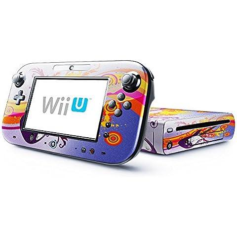 Mia Musica 10003, Chitarra, Skin Autoadesivo Sticker Adesivi Pelle Cover Decal Set con Disegno Strutturato con Nintendo Wii U