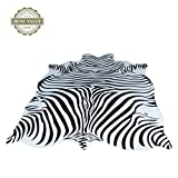 Teppiche Matten Teppiche Zebra Kuhfell Teppich Die gesamte Nordic American Tier schwarz und weiß Teppich Wohnzimmer Schlafzimmer Bett kleine kreisförmige dünne Bodenmatte ( Size : 200cm(78.7 inches) )
