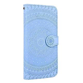 Homikon-PU-Leder-Hlle-Schn-Mandala-Muster-Schutzhlle-Brieftasche-Ledertasche-Handyhlle-mit-Kartensteckplatz-Stnder-Klapphlle-Etui-Flip-Case-Cover-Kompatibel-mit-Samsung-Galaxy-A20A30