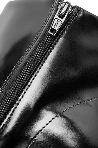 next Femme Bottines En Cuir Style Mocassins Noir