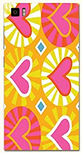 Attractive multicolor printed protective REBEL mobile back cover for Xiaomi Mi 3 D.No.N-T-4334-XM3