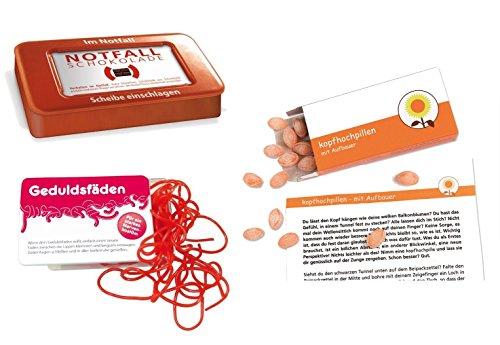 Preisvergleich Produktbild yagma Sei Stark - Gib mir Kraft Notfallpaket (Kopfhochpillen,  Geduldsfäden,  Notfallschokolade)