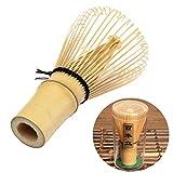 Milopon Matcha Besen Bambusbesen Teebesen Handegefertige Matchabesen mit 100 Borsten Japanische Teezeremonie Zubehör