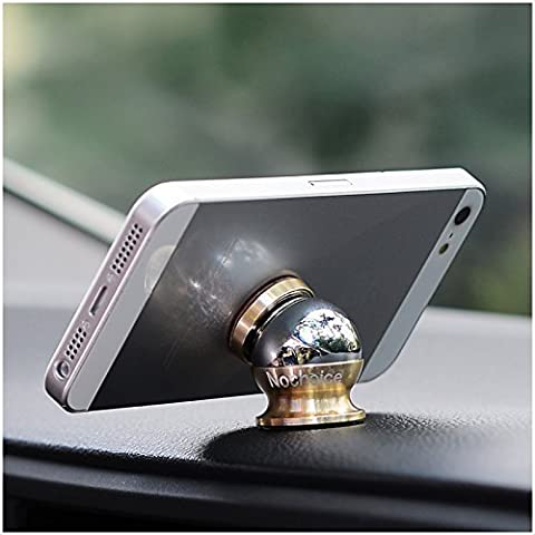 Nochoice® Colorful Magnetic Car Mount Kit for Cell Phones (1 Magnet + 1 Ball) (Gold)