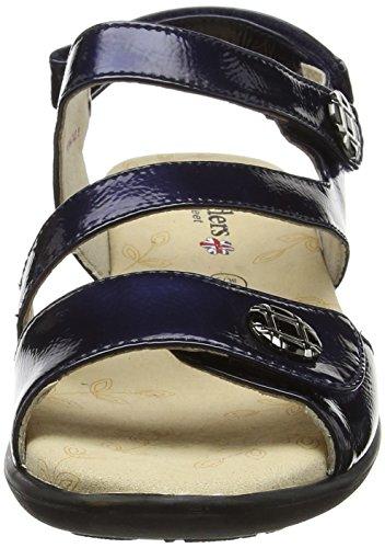 Padders Damen Vienna Sandalen Blue (Navy Patent)