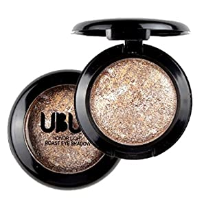 Tefamore Single Baked Eye Shadow Powder Palette Shimmer Metallic Eyeshadow Palette (E)