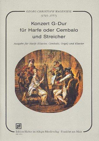 Konzert G-Dur: W 307. Harfe oder Cembalo und Streicher. Klavierauszug.