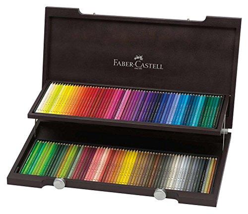 Faber-Castell 110013 – Estuche de madera con 120 ecolápices polychromos, multicolor