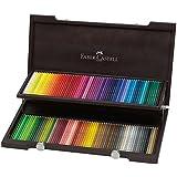 Faber-Castell 110013 - Holzkoffer mit 120 Polychromos Farbstiften