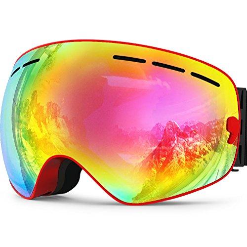 ZIONOR Lagopus X Snowmobile Snowboard Skate Skibrillen mit und Weitwinkel Anti-Nebel for Jungs Jugendliche Junior Kinder Damen Frauen Männer Jungen Mädchen Skibrillen -