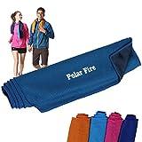 Polar Fire sportivo in microfibra, asciugamano Outdoor fascia collo per jogging corsa nuoto ciclismo viaggio spiaggia, yoga, palestra, ultra assorbente, leggero, adatto per uomini e donne, MJ30101-6922494955533, Navy