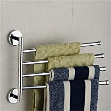 wangjian& Soporte para Toallas de baño de Acero Inoxidable 4 Toallero Portaequipajes Riel de baño Estante