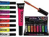 Geschenkpost24de 240110 3X Haar-Mascara Neon UV 8, 3er Set Bunte Haarfarbe