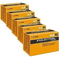 50x Duracell Industrial batterie alcaline AA 1.5V LR6MN1500ricambio PROCELL AA, confezione da 50