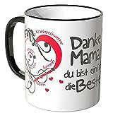 WANDKINGS Tasse, Schriftzug Danke Mama, du bist einfach die Beste! - SCHWARZ