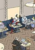 Postkarte A6 • 4945 ''Co-working space'' von Inkognito • Künstler: Beck • Satire • Cartoons