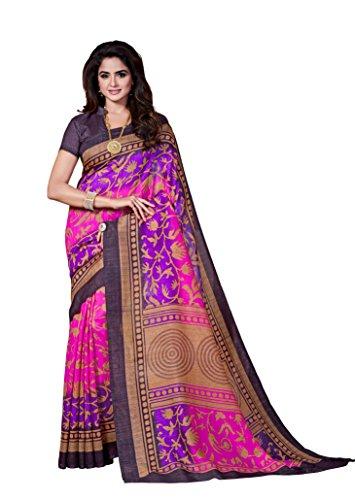 Dream Beauty Fashion Sarees Daily Wear Stripe & Geometric Print Multi-Color Cotton Sari With Blouse (Malgudi-4445)