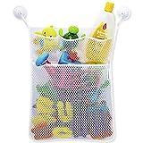 Red de malla, bolsa de almacenamiento, organizador de juguetes, para cuarto de baño y bañera, soporte con...