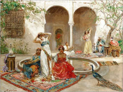asbild 160 x 120 cm: Tänzerinnen in einem Harem von Fabio Fabbi - Wandbild, Acryl Glasbild, Druck auf Acryl Glas Bild ()