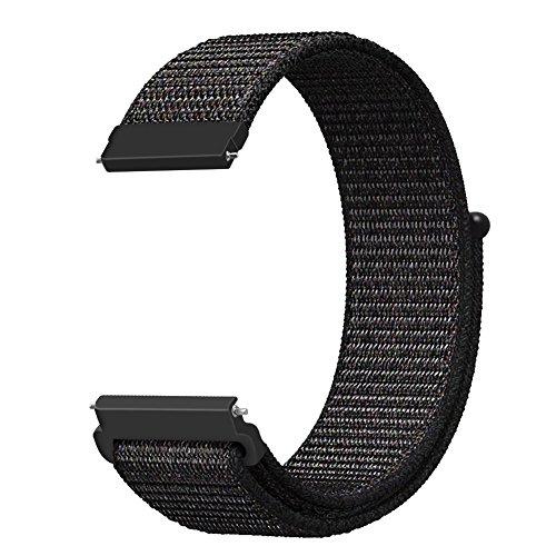 Fintie Correa para Garmin Vivoactive 3-20mm Pulsera de Repuesto de Nylon Sport Loop con Cierre Ajustable para Garmin Vivoactive 3/Forerunner 645 Music/Vivomove HR Smartwatch, Negro