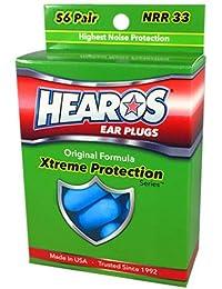 HEAROS Xtreme Protection Series Ear Plugs, Blue, 56 Pair