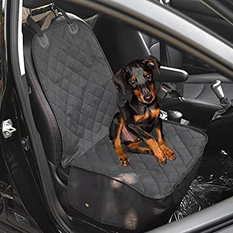 EarthSafe® Perro Cubo funda de asiento, impermeable anti-deslizante delantera de la alfombra cubierta de asiento del cojín de ratones, 40 * 20 pulgadas (Negro)