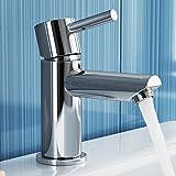 Modern Basin Mixer Tap Luxury Chrome Cloakroom Bathroom Sink Faucet TB2010