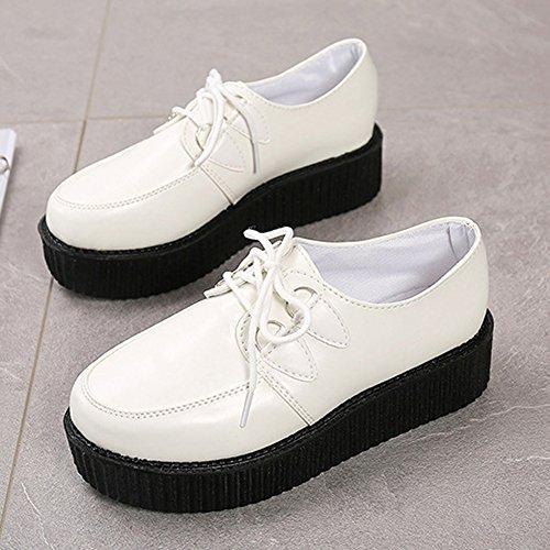 39385202c Wealsex 41 Derby Punk Gothique Blanche Chaussure Chaussures Semelle ...