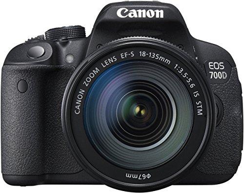 Canon 700D Appareil photo numérique compact 18 Mpix Écran LCD 3in Zoom optique 7,5X Noir (Reconditionné)