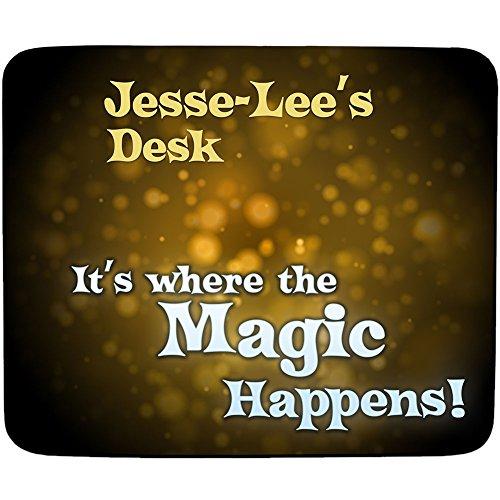 jesse-lee 's Schreibtisch–Es ist, wo der Magic Happens–personalisierbar, Name Mauspad Premium (5Dick) (Wo Lee)