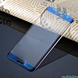 Mobile Screen Tempered Glass Black (Edge To Edge) Tempered Glass Screen Guard For Samsung Galaxy S7 SM-G930 (Blue)