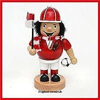 Unbekannt Sigro Fußball Räucherstäbchen Raucher Figur, Holz, rot, 6,5x 8x 16cm