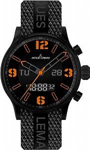 Jacques Lemans Unisex-Armbanduhr Analog Digital Quarz Kautschuk 1-1716D