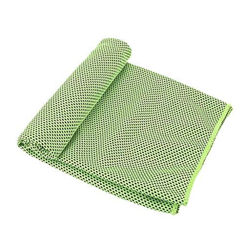 Lomelomme_Yogahosen Sporthandtuch Instant Kühltuch Kaltes Gefühl Kühle kalte Handtücher für Yoga Strand Sports Laufen Camping Badetuch Fitness Handtuch Schnell trocknend Unisex (Green, 30 * 100cm)