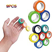 Magnetic Rings Anti-Stress Game Fidget, Magnetic Bracelet Ring Unzip Toy, Stress Relief Magnetic Finger Spinne