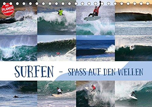 Surfen - Spaß auf den Wellen (Tischkalender 2019 DIN A5 quer): Surf-Spaß für zuhause (Geburtstagskalender, 14 Seiten) (CALVENDO Sport)
