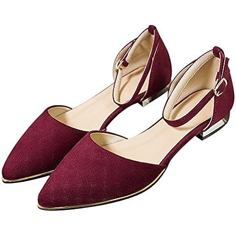 Estate tacchi scarpe moda punta Sandalo cinturino