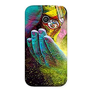 Gorgeous Hands and Colors Back Case Cover for Moto E