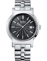 3f3d791f75a4 Hugo Boss 1512236 - Reloj analógico de caballero de cuarzo con correa de  acero inoxidable plateada