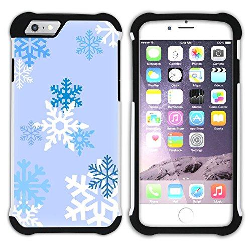 Graphic4You Schnee Schneeflocke Winter Muster Hart + Weiche Kratzfeste Hülle Case Schale Tasche Schutzhülle für Apple iPhone 6 / 6S Design #19